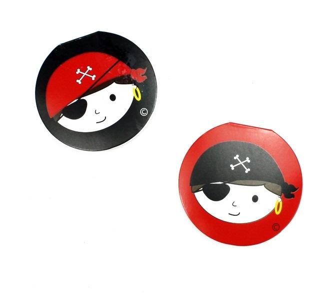 Notizbuch Piratendesign 2-fach sortiert - ca 8cm