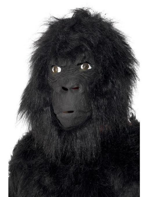 Maske Gorilla mit Haar