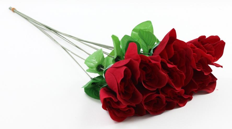 Baccara Rose Velourrose  rot  ca 58 cm