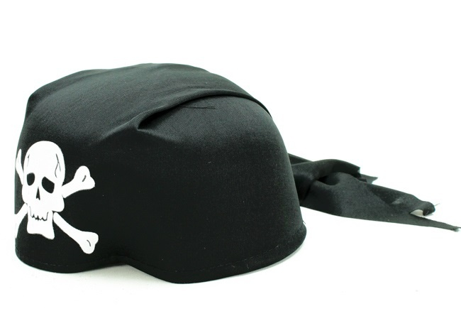 Bandana Pirat Totenkopf Einheitsgröße für Erwachsene