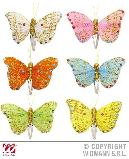 Haarspange Schmetterling 6 Farben sortiert ca 9cm