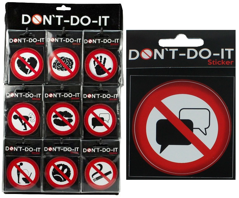 DONT - DO-IT  Sticker 9 fach sortiert - ca 70 mm