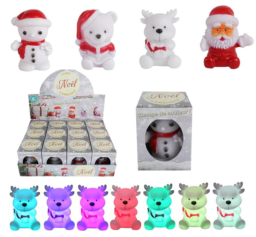 Weihnachtsfiguren leuchtend 4 fach sortiert ca 7,5-8cm