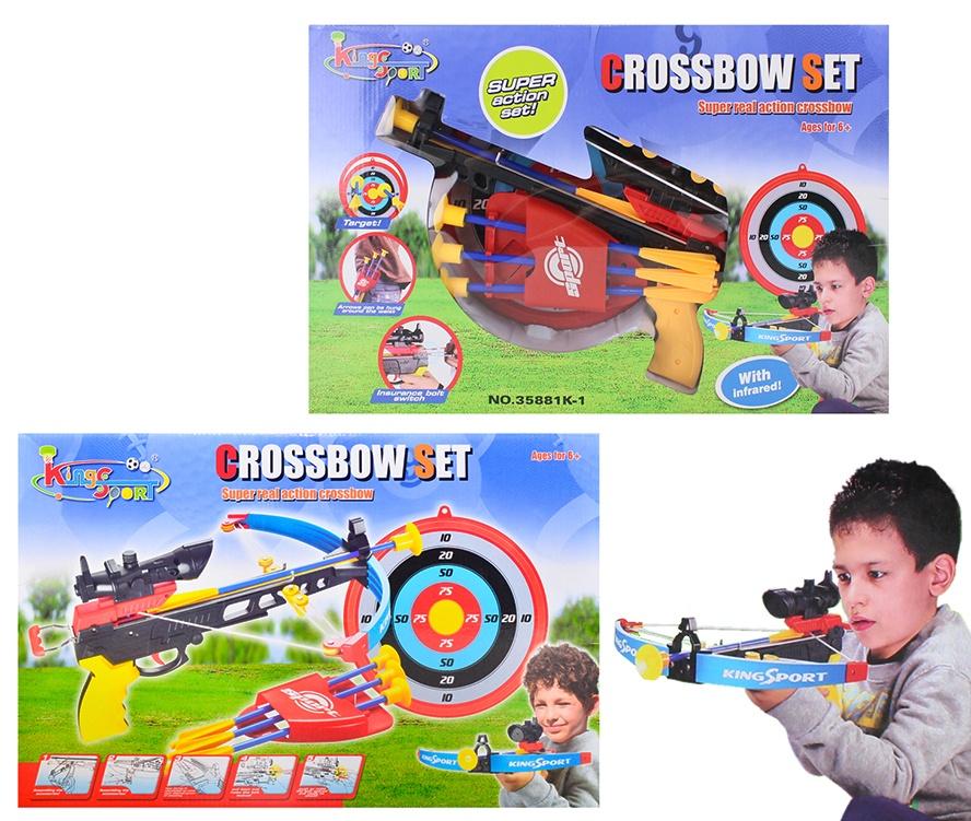 Armbrust mit  Köcher und Zielscheibe - in Box ca 51x33x6,5cm