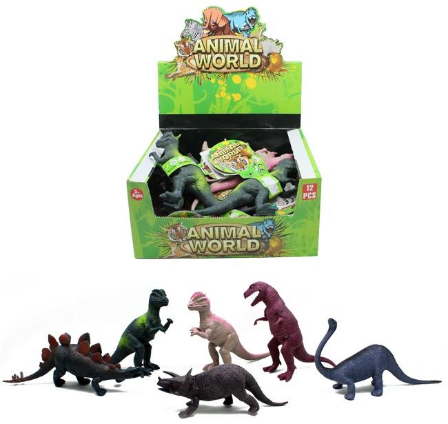 Dinosaurier 6-fach sortiert ca 16 - 26 cm