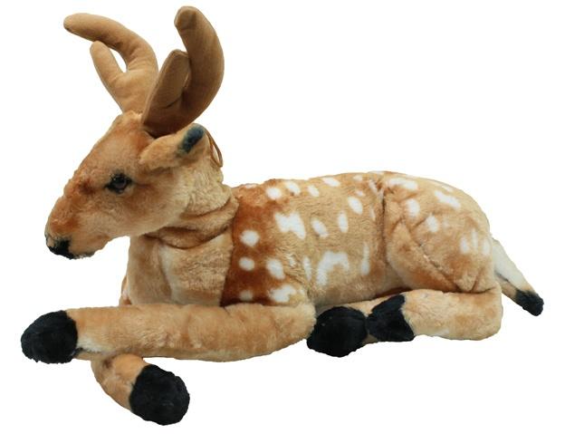 Hirsch liegend naturgetreu ca 45 cm