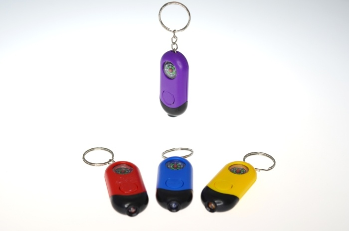 Taschenlampe mit LED + Kompass an Schlüsselanhänger-ca 5,2cm
