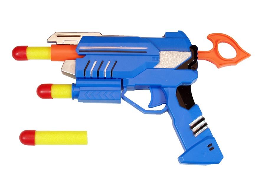 Pistole mit 3 Softpfeilen im Beutel ca 19 cm