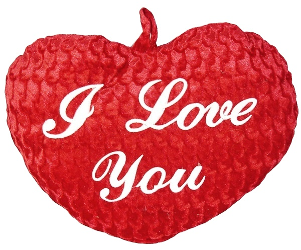 Herz rot  I love you ca 25 cm