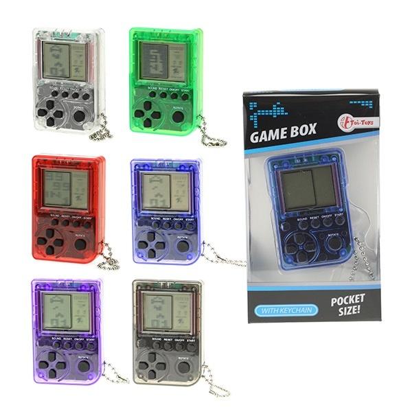 Gamebox an Schlüsselanhänger 6 Farben sortiert in Box