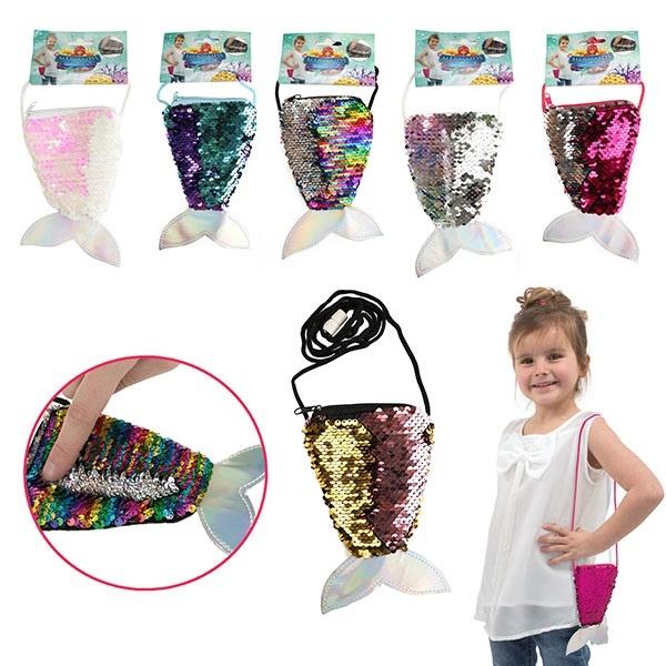 Tasche Meerjungfrauflosse 6 Farben sortiert  ca