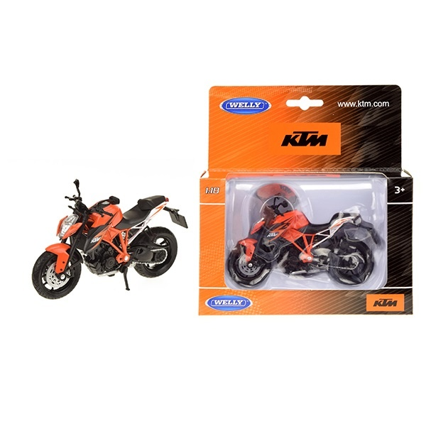 WELLY 1:18 KTM 1290 Super Duke R orange - ca 12cm
