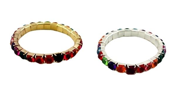 Armbänder mit Steinchen ca 6 cm