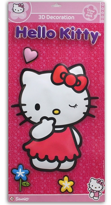 Hello Kitty 3D Wandbild - an Karte ca 57x28,5cm