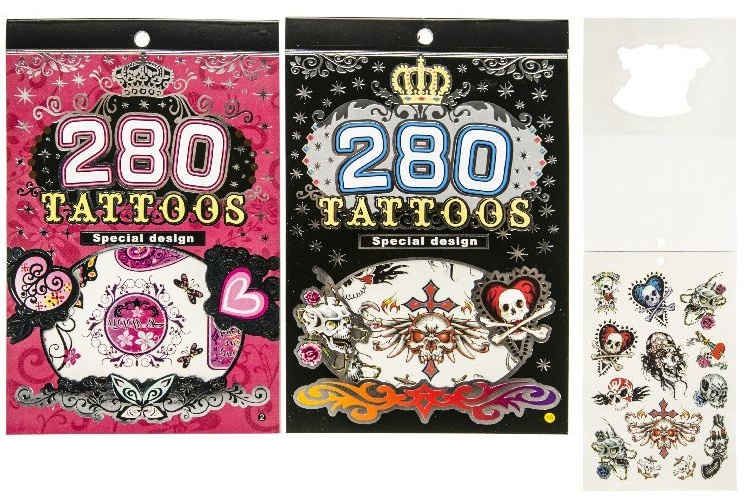 Tattooheft 2-fach sortiert mit ca 70-80 Tattoos