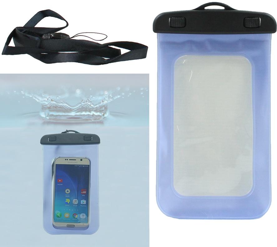 Smartphone Handy Tasche wasserdicht transparent ca 20x10,5cm