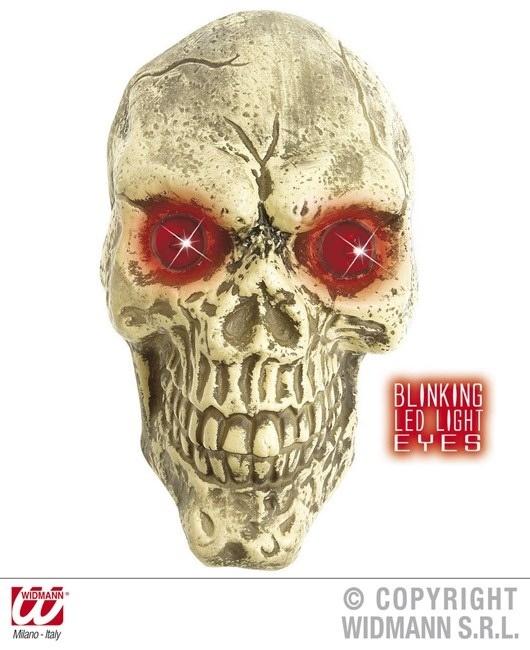 Wandeko Totenkopf mit LED Augen 25 cm