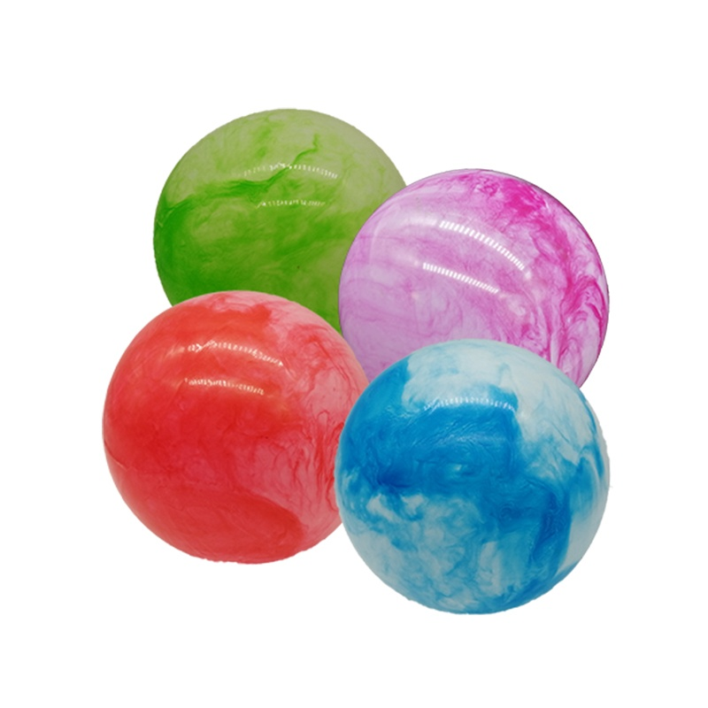 Ball marmoriert aufblasbar 4-farbig sortiert im Netz ca 26cm