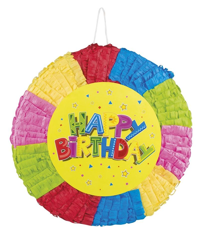 Pinata Happy Birthday ca 40 cm Durchmesser