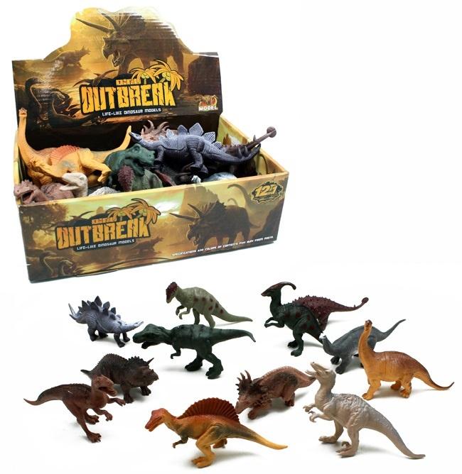 Dinosaurier 12 fach sortiert ca 15 - 17 cm