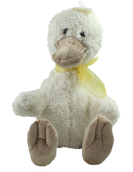 Ente mit Schleife sitzend ca 45 cm