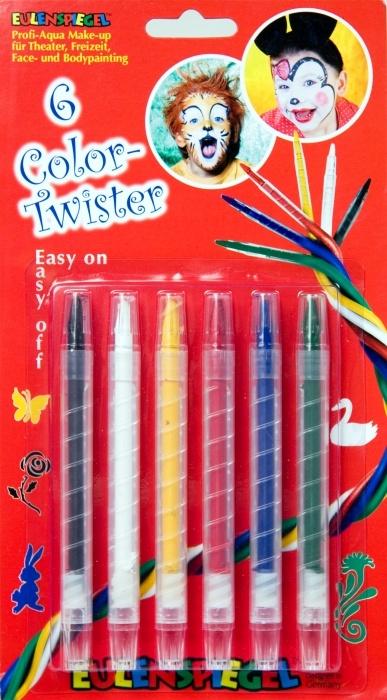 Schachtel mit 6 Aqua-Schminkstiften