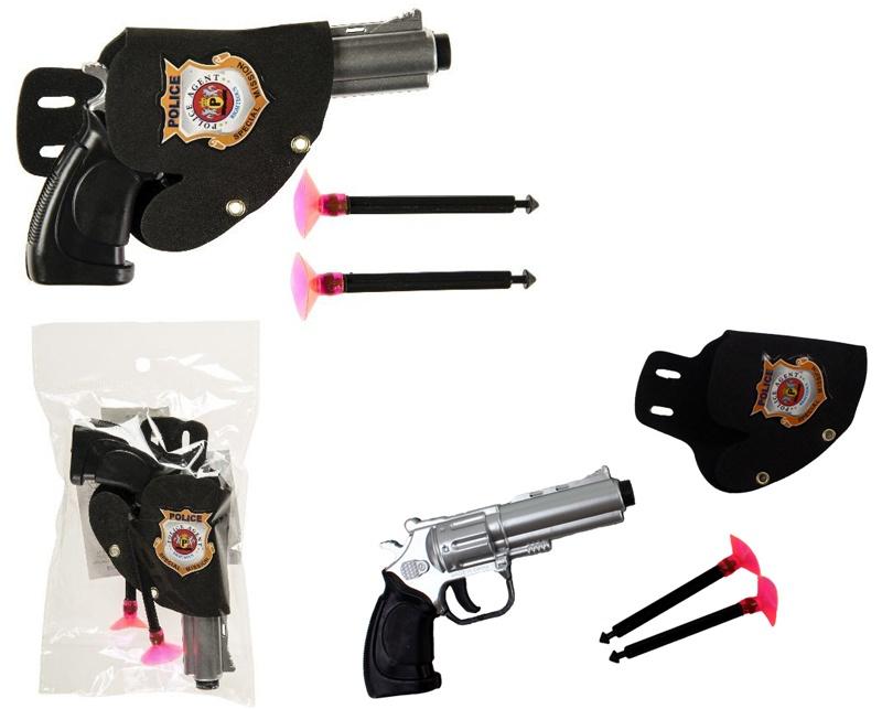 Pfeilpistole mini mit Halfter - ca 12cm