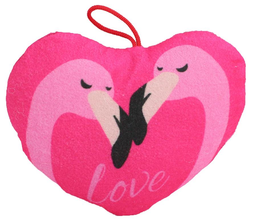 Herz mit Flamingo Aufdruck ca 15 cm