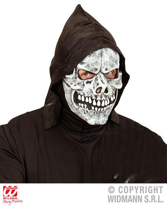 Maske Totenkopfmaske mit Kapuze