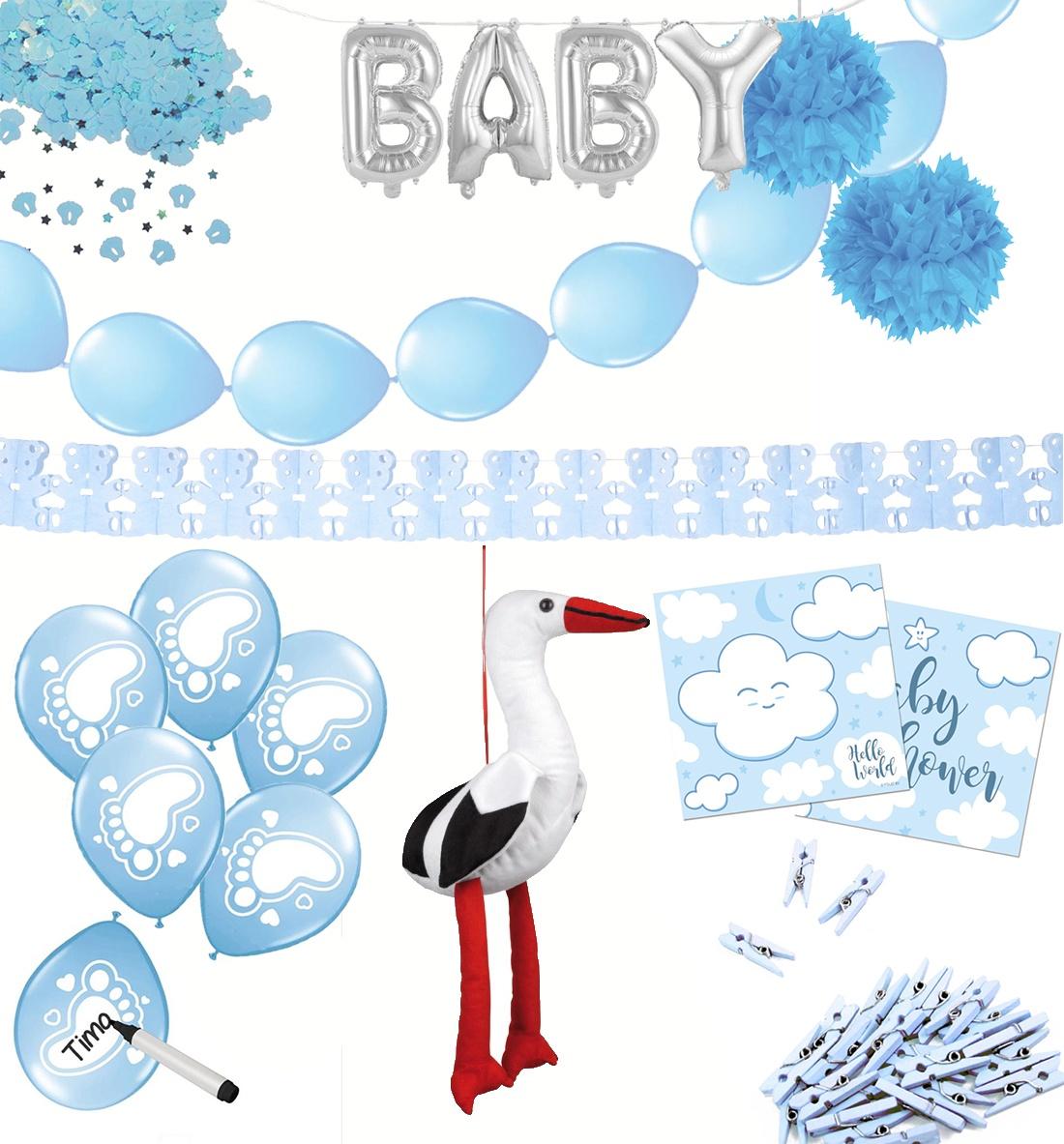 Baby Party Set blau 67 Teilig