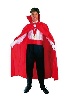 Kostüm Vampir Cape rot ca. 120 cm