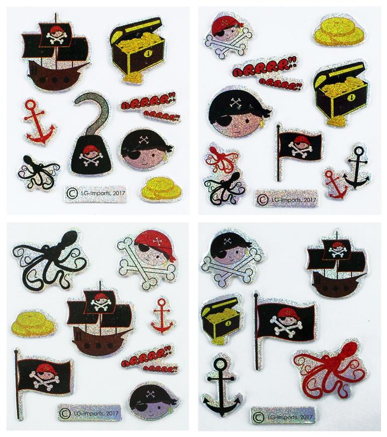 Sticker Pirat 4 fach sortiert - Bogen ca 8x7cm