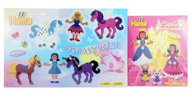 HAMA Fantasy Pferd und kleine Prinzessin - ca 64x27,5x4cm