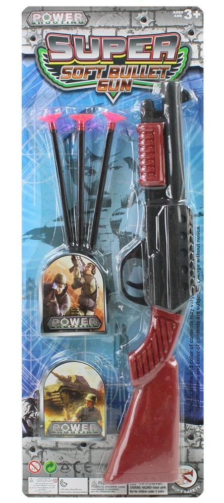 Pfeilgewehr mit Zielobjekten auf Karte ca 46 x 17 cm