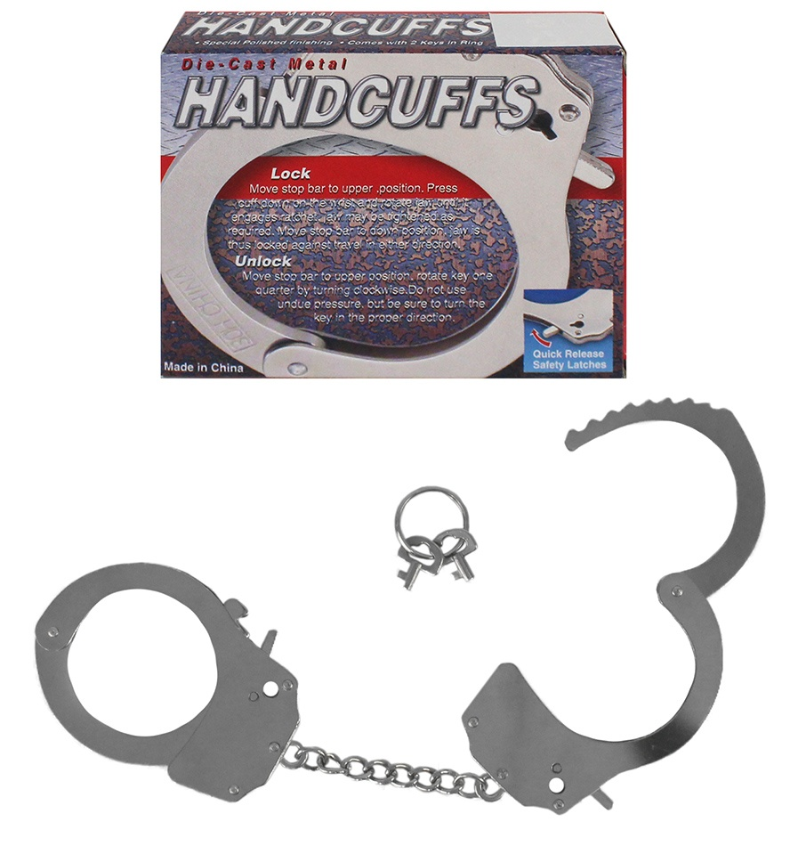 Metall Handschellen schwer,  im Karton - ca Ø 7 cm