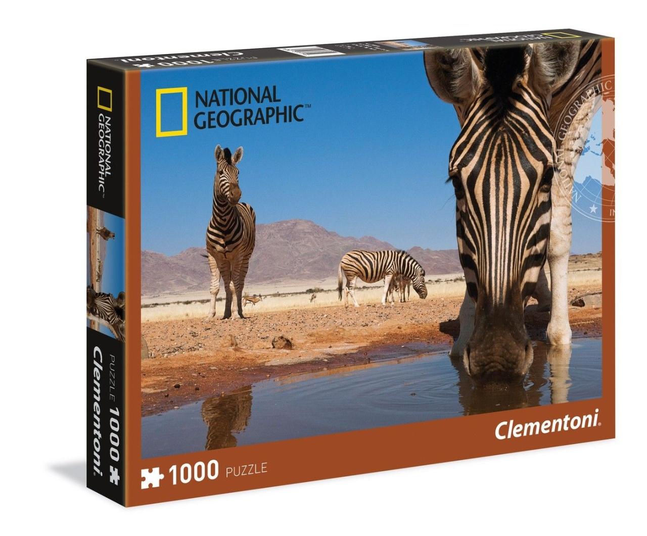 Clementoni National Geographic Puzzle 1000 Teile Zebra