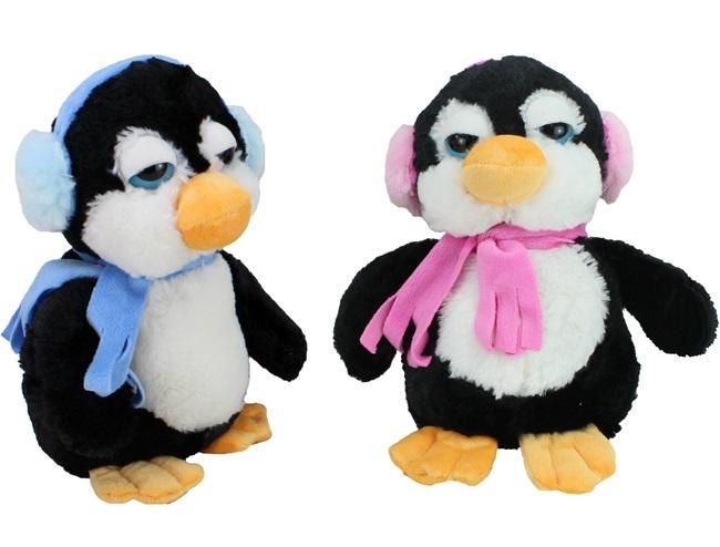 Pinguin 2-fach sortiert mit Schal und Ohrenschützer -ca 28cm