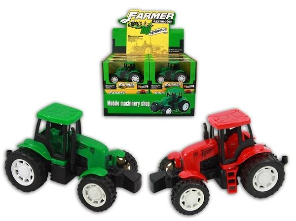 Traktor in rot und grün sortiert - ca 14cm