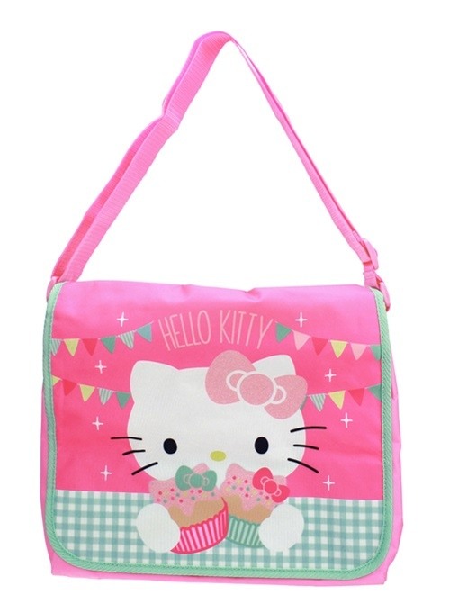 Hello Kitty Tea Party Umhängetasche mit Glitzer ca 30x28x6cm