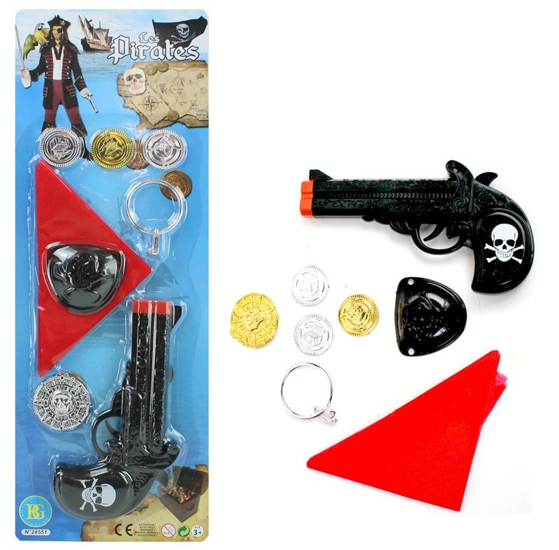 Pistole Pirat mit Zubehör - auf Karte ca 43,5x15,5cm