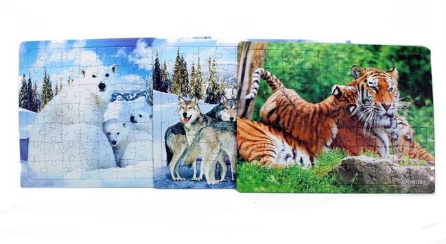 Puzzle Tiermotive sortiert im Beutel - ca 28 x 21 cm