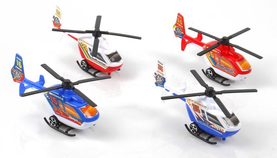 Hubschrauber Helikopter 4-farbig sortiert ca 15 cm