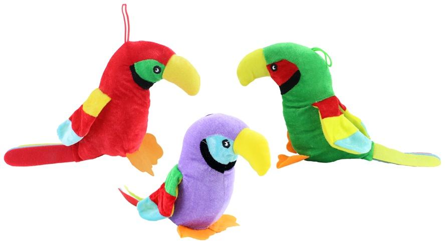 Papagei 3-fach sortiert ca 33 cm