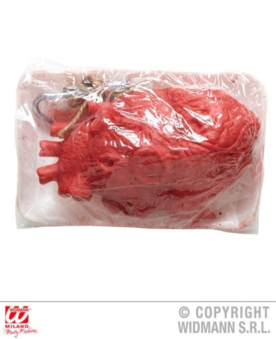 Herz mit ,Blut, befleckt - in Schale ca 21x15cm