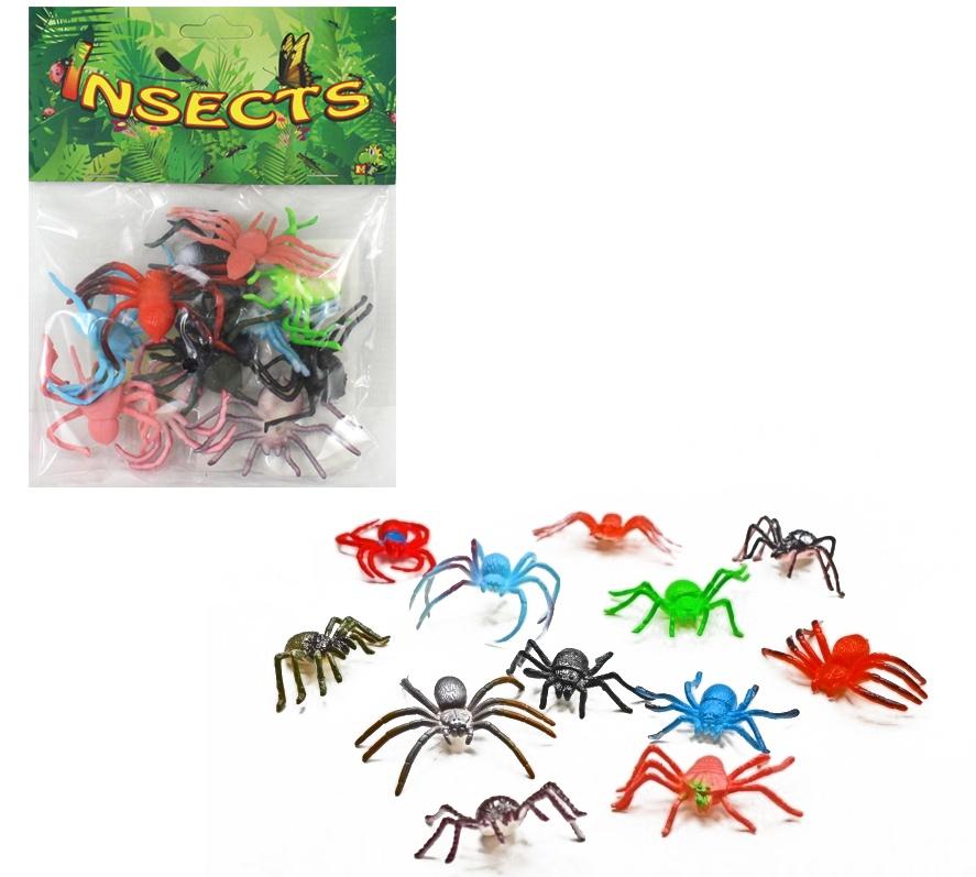 Spinnen 12-fach sortiert im Beutel, ca 5 - 7cm