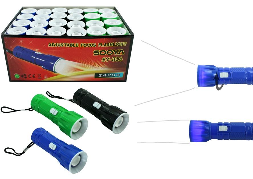 Taschenlampe LED 3 Farben sortiert ca 9,5 cm