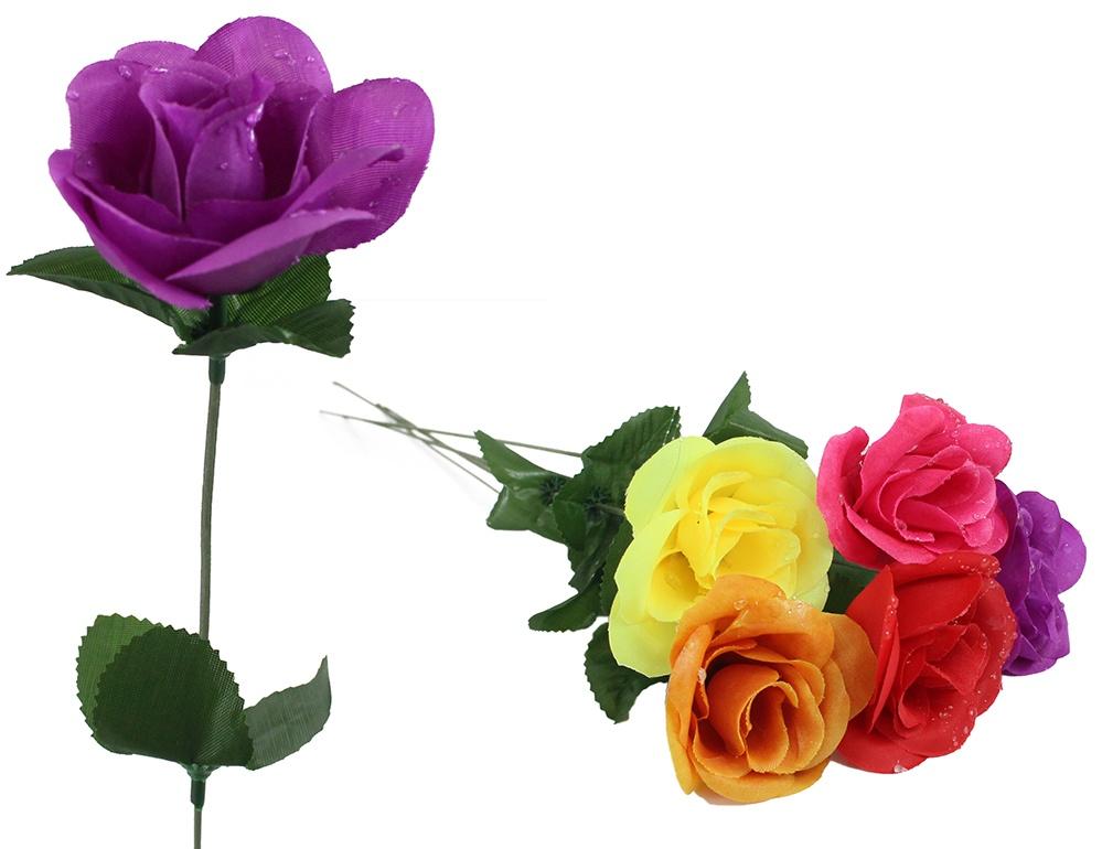 Rose bunt mit Wassertropfen ca 44 cm