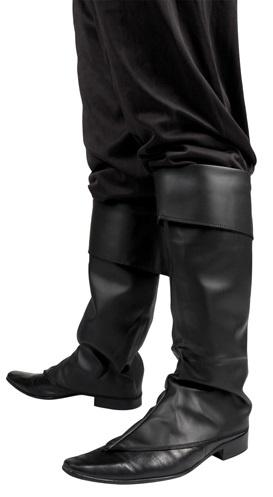 Stiefelstulpen schwarz edel Einheitsgröße
