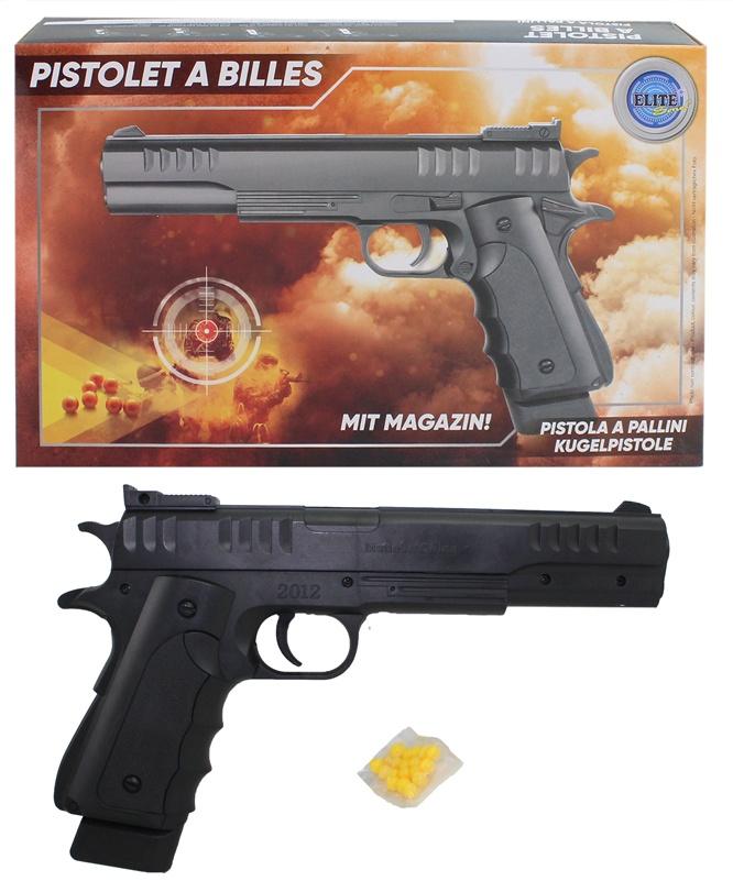 Kugelpistole mit Magazin max 0,5 Joule ca 26cm