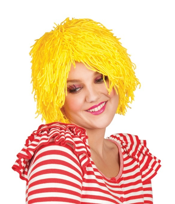 Perücke - Fuzz Garnperücke Clown gelb